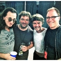 Geddy, Ben with Clockwork Angel fellow fiddlers Jonathan Dinklage and Entcho Todorov